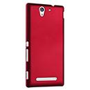 Coque Sony Xperia C3 Plastique Etui Rigide - Rouge