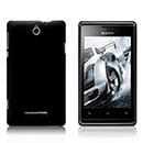 Coque Sony Xperia E Dual Plastique Etui Rigide - Noire