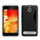 Coque Sony Xperia E1 S-Line Silicone Gel Housse - Noire