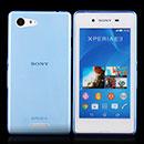 Coque Sony Xperia E3 Silicone Transparent Housse - Bleue Ciel