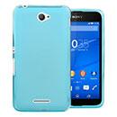 Coque Sony Xperia E4 Silicone Transparent Housse - Bleu