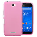 Coque Sony Xperia E4 Silicone Transparent Housse - Rose