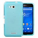 Coque Sony Xperia E4G Silicone Transparent Housse - Bleue Ciel