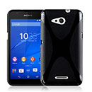Coque Sony Xperia E4G X-Style Silicone Gel Housse - Noire