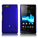 Coque Sony Xperia Go ST27i Plastique Etui Rigide - Bleu