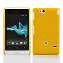 Coque Sony Xperia Go ST27i Plastique Etui Rigide - Jaune