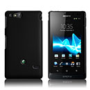 Coque Sony Xperia Go ST27i Plastique Etui Rigide - Noire