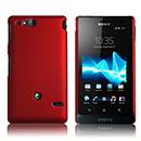 Coque Sony Xperia Go ST27i Plastique Etui Rigide - Rouge