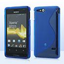 Coque Sony Xperia Go ST27i S-Line Silicone Gel Housse - Bleue Ciel