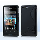 Coque Sony Xperia Go ST27i S-Line Silicone Gel Housse - Noire