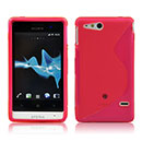 Coque Sony Xperia Go ST27i S-Line Silicone Gel Housse - Rose Chaud