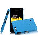Coque Sony Xperia Go ST27i Sables Mouvants Etui Rigide - Bleu