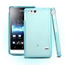 Coque Sony Xperia Go ST27i Silicone Transparent Housse - Bleu