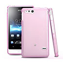 Coque Sony Xperia Go ST27i Silicone Transparent Housse - Rose