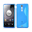 Coque Sony Xperia GX LT29i S-Line Silicone Gel Housse - Bleue Ciel