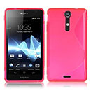 Coque Sony Xperia GX LT29i S-Line Silicone Gel Housse - Rose Chaud