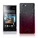 Coque Sony Xperia J ST26i Degrade Etui Rigide - Rose