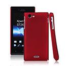 Coque Sony Xperia J ST26i Plastique Etui Rigide - Rouge