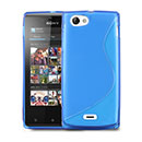 Coque Sony Xperia J ST26i S-Line Silicone Gel Housse - Bleue Ciel