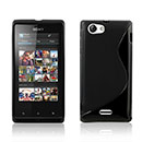 Coque Sony Xperia J ST26i S-Line Silicone Gel Housse - Noire