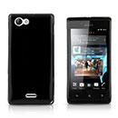 Coque Sony Xperia J ST26i Silicone Gel Housse - Noire
