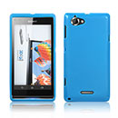 Coque Sony Xperia L S36h Silicone Gel Housse - Bleu