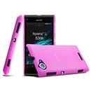 Coque Sony Xperia L S36h Ultrathin Plastique Etui Rigide - Rose Chaud