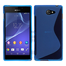 Coque Sony Xperia M2 S50h S-Line Silicone Gel Housse - Bleu
