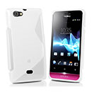 Coque Sony Xperia Miro ST23i S-Line Silicone Gel Housse - Blanche