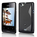 Coque Sony Xperia Miro ST23i S-Line Silicone Gel Housse - Noire