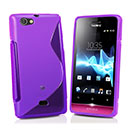 Coque Sony Xperia Miro ST23i S-Line Silicone Gel Housse - Pourpre