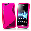 Coque Sony Xperia Miro ST23i S-Line Silicone Gel Housse - Rose Chaud