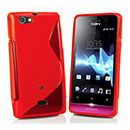 Coque Sony Xperia Miro ST23i S-Line Silicone Gel Housse - Rouge