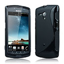 Coque Sony Xperia Neo L MT25i S-Line Silicone Gel Housse - Noire