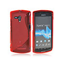 Coque Sony Xperia Neo L MT25i S-Line Silicone Gel Housse - Rouge