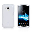 Coque Sony Xperia Neo L MT25i S-Line Silicone Housse Gel - Blanche