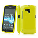 Coque Sony Xperia Neo L MT25i Silicone Gel Housse - Jaune