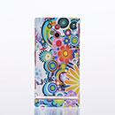 Coque Sony Xperia P LT22i Fleurs Plastique Etui Rigide - Verte