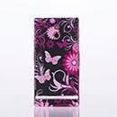Coque Sony Xperia P LT22i Papillon Plastique Etui Rigide - Noire