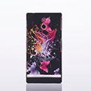 Coque Sony Xperia P LT22i Papillon Plastique Etui Rigide - Rouge