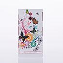 Coque Sony Xperia P LT22i Papillon Plastique Etui Rigide - Verte