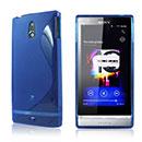 Coque Sony Xperia P LT22i S-Line Silicone Gel Housse - Bleu