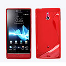 Coque Sony Xperia P LT22i S-Line Silicone Gel Housse - Rouge