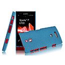 Coque Sony Xperia P LT22i Sables Mouvants Etui Rigide - Bleu