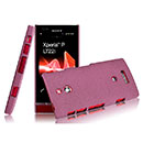 Coque Sony Xperia P LT22i Sables Mouvants Etui Rigide - Rouge