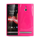 Coque Sony Xperia P LT22i Silicone Gel Housse - Rose Chaud