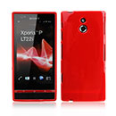 Coque Sony Xperia P LT22i Silicone Gel Housse - Rouge