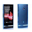 Coque Sony Xperia P LT22i Silicone Transparent Housse - Bleu