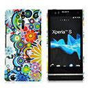 Coque Sony Xperia S LT26i Fleurs Plastique Etui Rigide - Verte