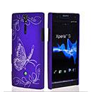 Coque Sony Xperia S LT26i Papillon Plastique Etui Rigide - Pourpre